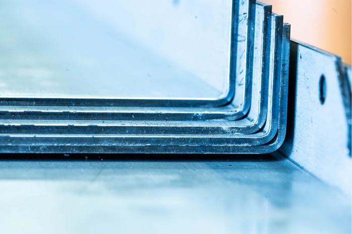 image d'un pliage d'acier Lasermetal à Toulouse